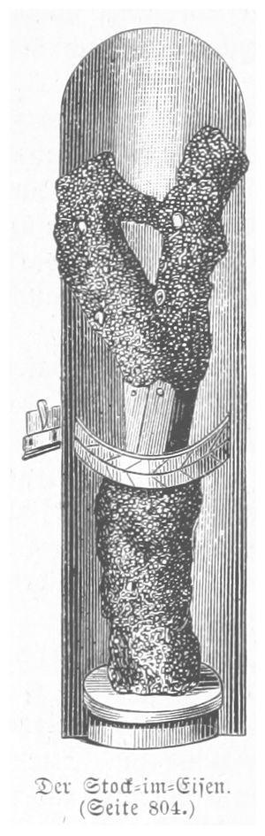 Stock im Eisen - Image: BERMANN(1880) p 0852 Der Stock im Eisen