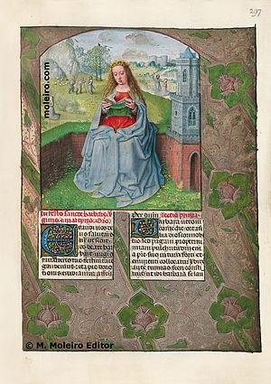 Isabella Breviary - Isabella breviary, Saint Barbara f297r
