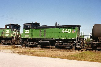 AAR type A switcher truck - EMD SW1000 with switcher trucks