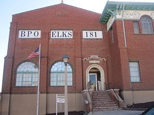Benevolent and Protective Order of Elks - The Elks building in downtown Trinidad, Colorado