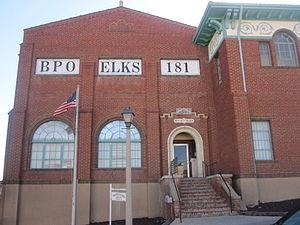 Benevolent and Protective Order of Elks - The Elks building in downtown Trinidad, Colorado