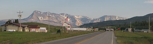 The Mountains Of Glacier National Park Rising To West Over Babb