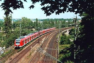 Fils Valley Railway - S-Bahn in Bad Cannstatt on the Rosenstein Bridge