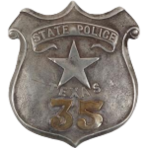 Texas State Police - Badge of a TSP policeman.