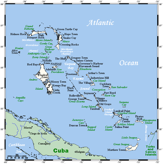 Geography of the Bahamas - Map of the Bahamas
