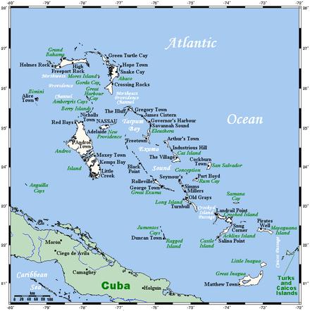Bahamas Elevation Map.Geography Of The Bahamas Wikipedia