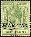 Bahamas War Tax stamp 1918 SG91 used.jpg