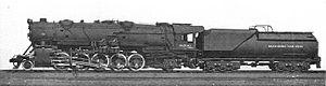 Baltimore and Ohio class S - Image: Baltimore & Ohio 2 10 2 freight locomotive, 6206 (CJ Allen, Steel Highway, 1928)