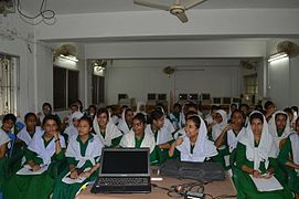 Bangla Wikipedia School Program at Agrabad Government Colony High School (Girls' Section) 59.JPG