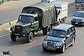 Bangladesh Navy Mitsubishi Pajero and Army Isuzu TSD-45 truck (29345003900).jpg