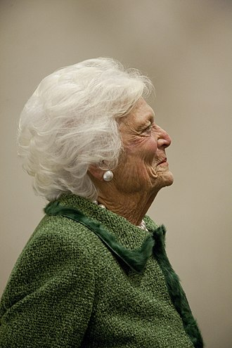Barbara Bush - Former First Lady Barbara Bush at the LBJ Presidential Library in 2012