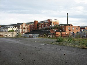 Barbour Threads Factory Complex at Hilden. Now...