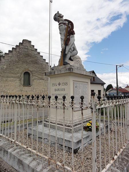 Barisis-aux-Bois (Aisne) monument aux morts