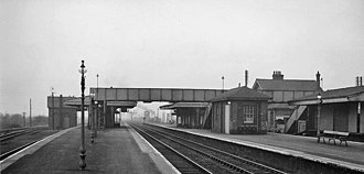 Barnetby railway station - View in 1961 towards Lincoln/Retford/Doncaster