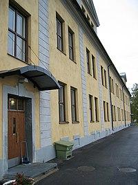 A barracks housing conscripts of Norrbottens regemente in Boden, Sweden.
