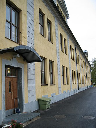 Barracks - Barracks housing conscripts of Norrbottens regemente in Boden, Sweden.