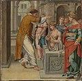 Bartholomäus Bruyn d. Ä. - Cyriakus-Folge, Der hl. Cyriakus tauft Arthemia - WAF 107 B - Bavarian State Painting Collections.jpg