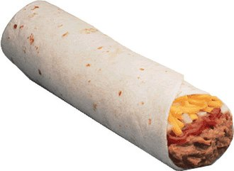 Burrito - A basic burrito with meat and cheese
