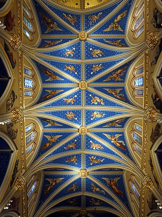 Basilica of the Sacred Heart (Notre Dame) - Ceiling of the nave