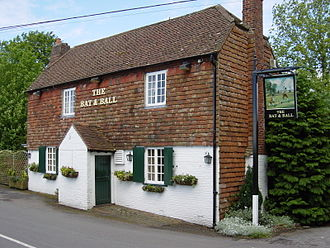 Monarch's Way - The Bat and Ball Inn at Broadhalfpenny Down