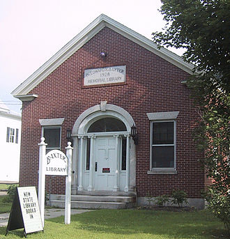 Sharon, Vermont - Baxter Memorial Library