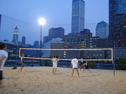 Beach Volleyball In Lower Manhattan New York City World Trade Center