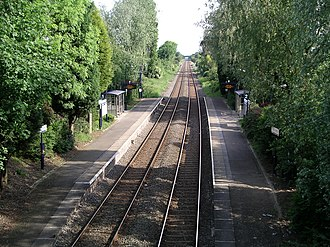 Coventry to Nuneaton line - Bedworth railway station.