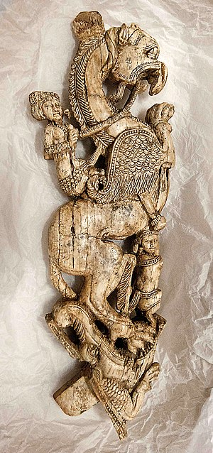 Begram ivories - Griffin, ivory, Begram.