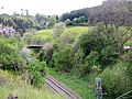 Beim 366 km langen Neckartalradweg, Eisenbahnstrecke Stuttgart - Zürich - panoramio.jpg