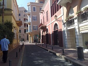 Economy of Lebanon - A pedestrian-only street in Beirut's central district.