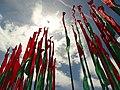 Belarusian Flags against Sky - Outside Palace of the Republic - Minsk - Belarus (26937712074).jpg