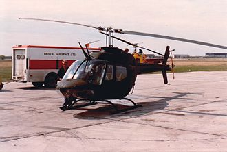 Bristol Aerospace - A Canadian Forces Bell CH-136 Kiowa after Depot Level Inspection and Repair undergoing testing flying at Bristol Aerospace. This was the last Kiowa to go through DLIR and was test flown in April 1987.