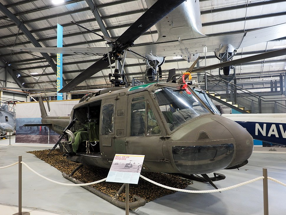 Bell UH-1H Iroquois at the Fleet Air Arm Museum February 2015