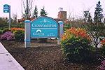 Bellevue, WA — Crossroads Park sign.jpg