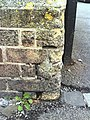 Benchmark on gatepost at junction of Fairfield Road and Weymouth Avenue - geograph.org.uk - 2095280.jpg