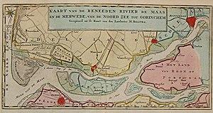 Het Scheur - Het Scheur and Nieuwe Maas in 1769.