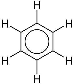 Delocalized electron - Benzene, with the delocalization of the electrons indicated by the circle.