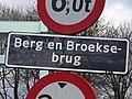 Berg en Broeksebrug - Hillegersberg - Rotterdam - Name plate (road).jpg