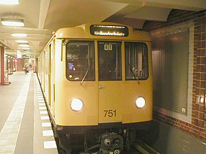 Berlin U-Bahn rolling stock - A A3L71 type U-Bahn