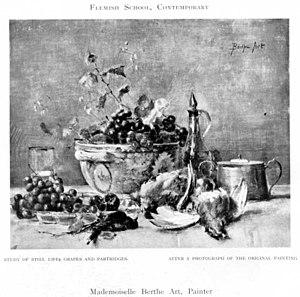 Berthe Art - Image: Berthe Art Still Life of Grapes and Partridges