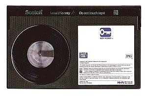 Betamax - Image: Betamax Tape v 2