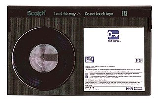 Betamax Consumer-level analog video tape recording and cassette form factor standard