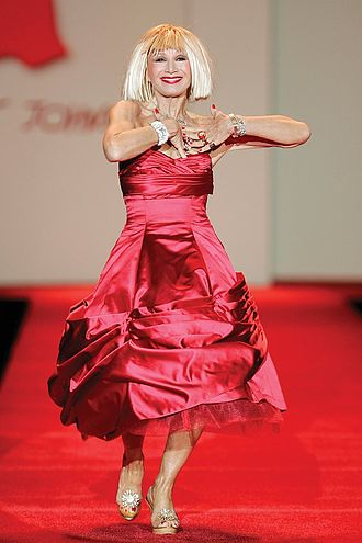 Betsey Johnson - Johnson at the 2007 Red Dress Collection show for The Heart Truth campaign