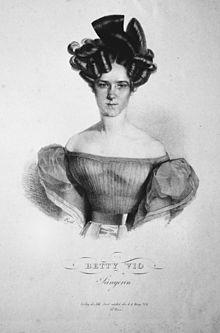 Betty Vio, Lithographie von Franz Eybl, um 1830 (Quelle: Wikimedia)
