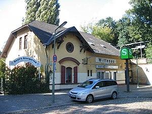 Kremmen Railway - Berlin Karl-Bonhoeffer-Nervenklinik station with the old name of Wittenau (Kremm. Bahn) on the reception building