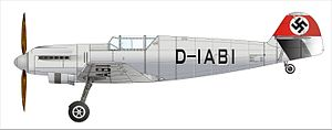 Messerschmitt Bf 109 - A drawing of the V1 prototype