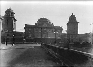 Birmingham Terminal Station - Front facade and subway (now the 5th Avenue tunnel) in 1923.