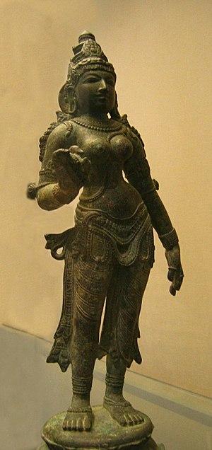 Bhūmi - Metal Sculpture of Goddess Bhudevi