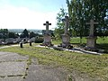 Bia Catholic cemetery, Calvary and view to Bia Lake. - Biatorbágy, Pest County, Hungary.jpg