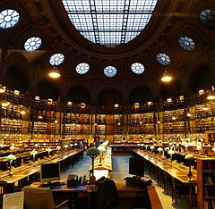 Bibliotheque nationale de France (site Richelieu), Paris - Salle Ovale.jpg